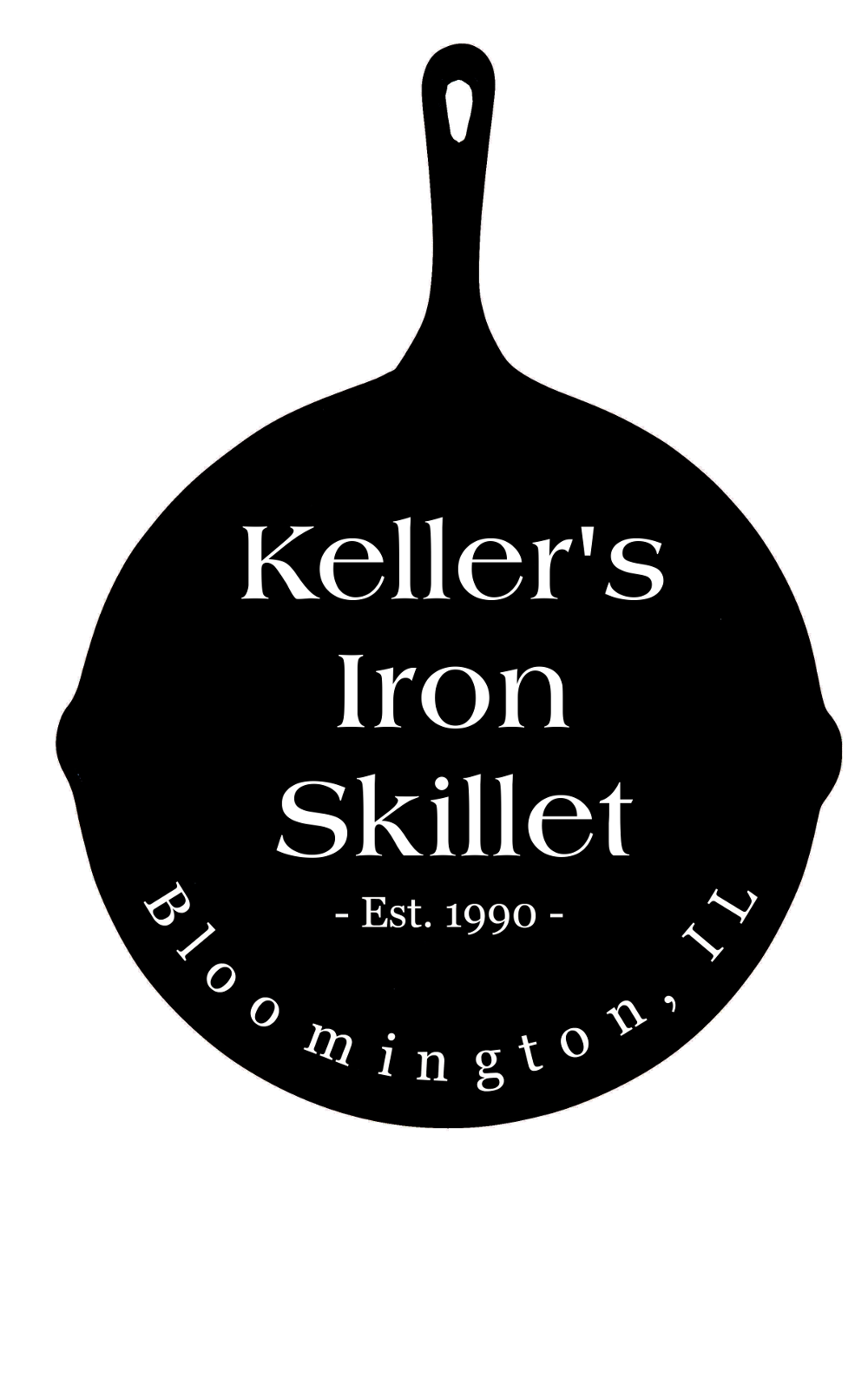 a slightly larger kellers catering logo